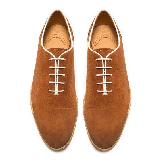 cc0bcd3fee831 RICHELIEU EN CROÛTE DE CUIR - Chaussures - Homme - ZARA France ...