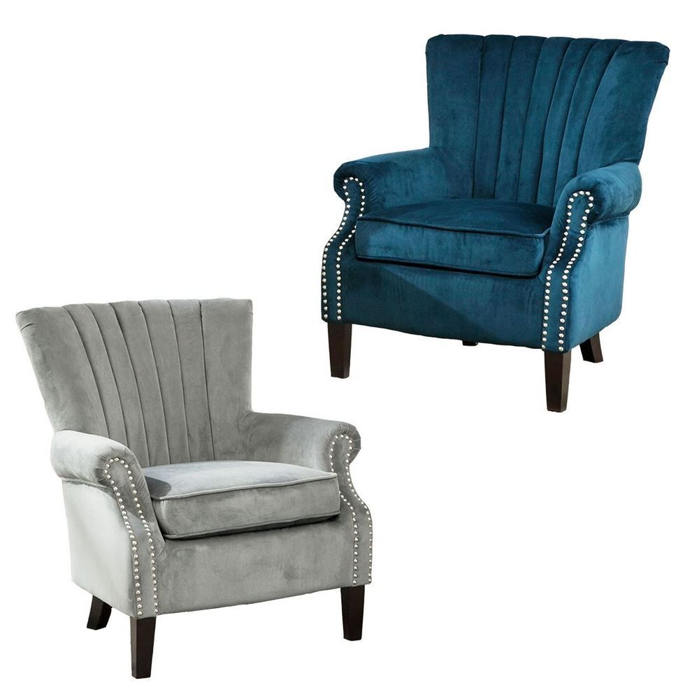 Olenka Accent Chair A Stylish Wingback Chair With Deep Padding