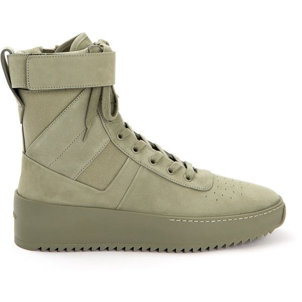 0872a97e1e50 Fear of God Army Green Military Sneakers ( 1