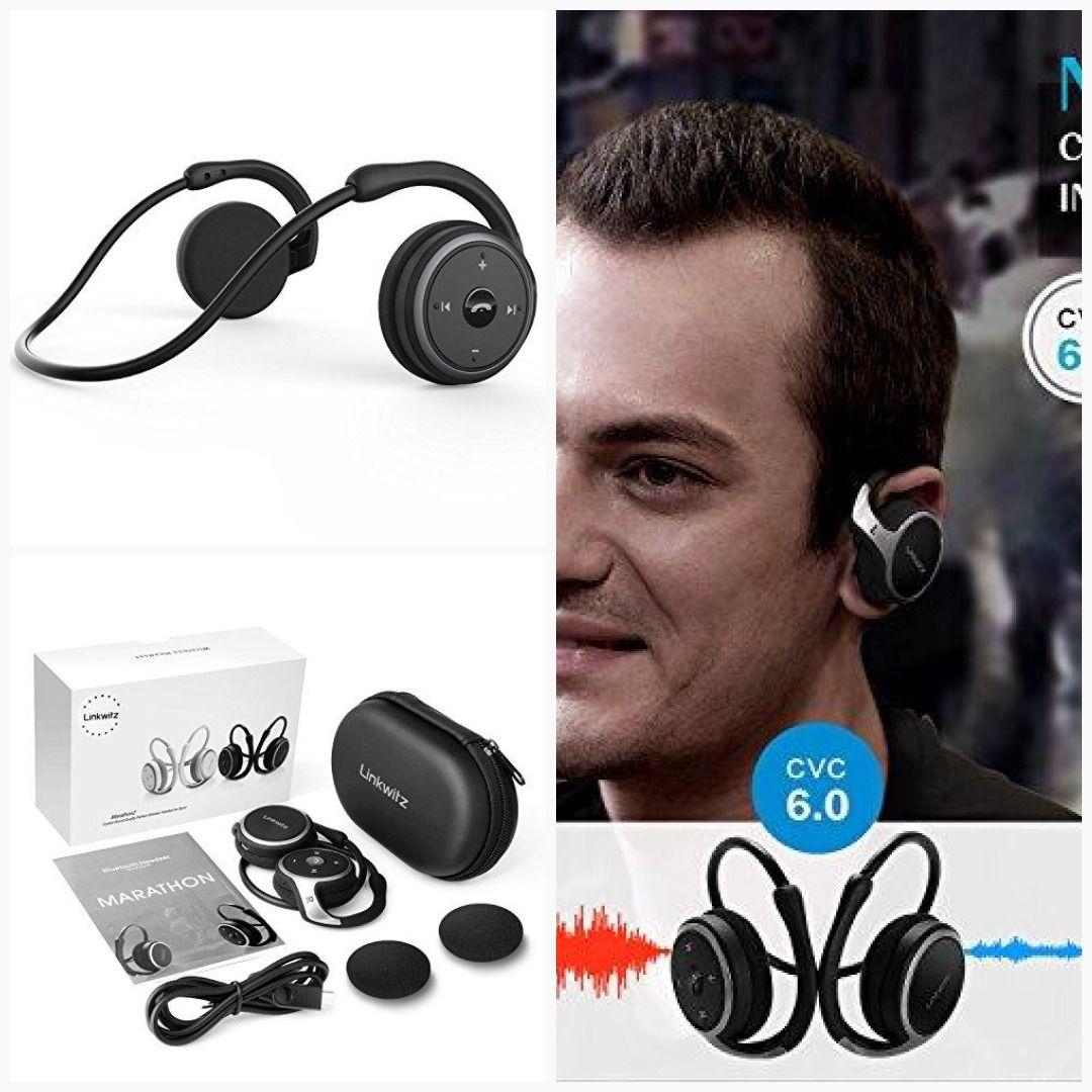 646ecfc6dfe LinkWitz Marathon2 Sports Bluetooth Headphones - Wireless Earphones  Bluetooth 4.2 [2018 Upgraded] Black