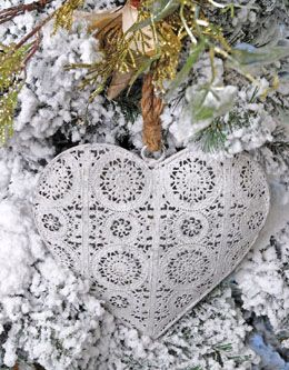 Metal Heart Ornament 9in
