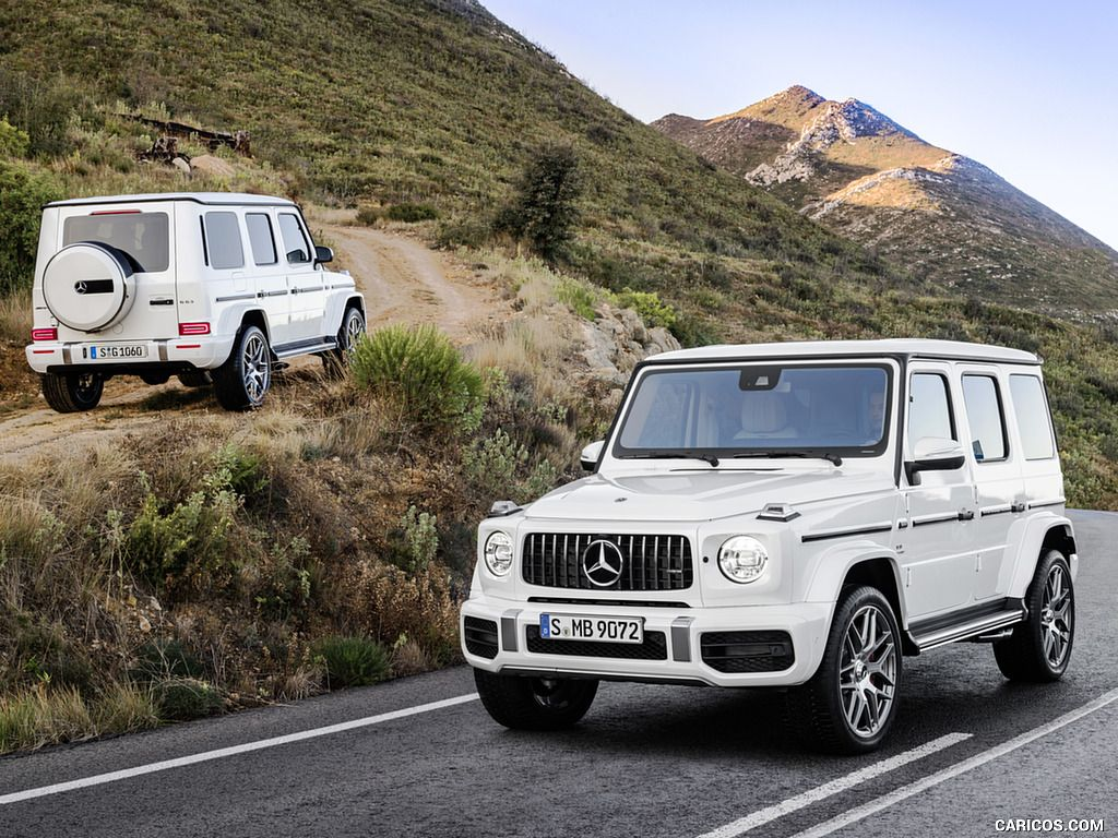 2019 Mercedes Amg G63 Color Designo Mystic White Bright Front