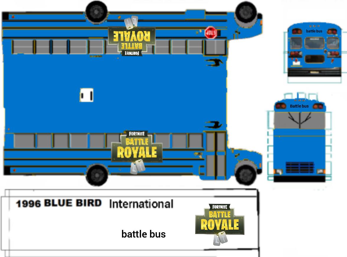 Fortnite Battle Bus Bus Fortnite Paper Model Car
