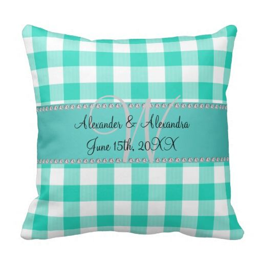 >>>best recommended          Wedding monogram turquoise gingham checkers pillows           Wedding monogram turquoise gingham checkers pillows We have the best promotion for you and if you are interested in the related item or need more information reviews from the x customer who are own of th...Cleck Hot Deals >>> http://www.zazzle.com/wedding_monogram_turquoise_gingham_checkers_pillow-189877789343402549?rf=238627982471231924&zbar=1&tc=terrest