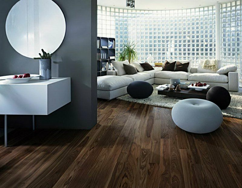 industrieparkett aus eiche als bodenbelag 25 stilvolle ideen f r holzb den pinterest. Black Bedroom Furniture Sets. Home Design Ideas
