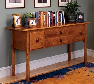 Shaker Style Table Hall Table Plans diy Free Wood Working Plans