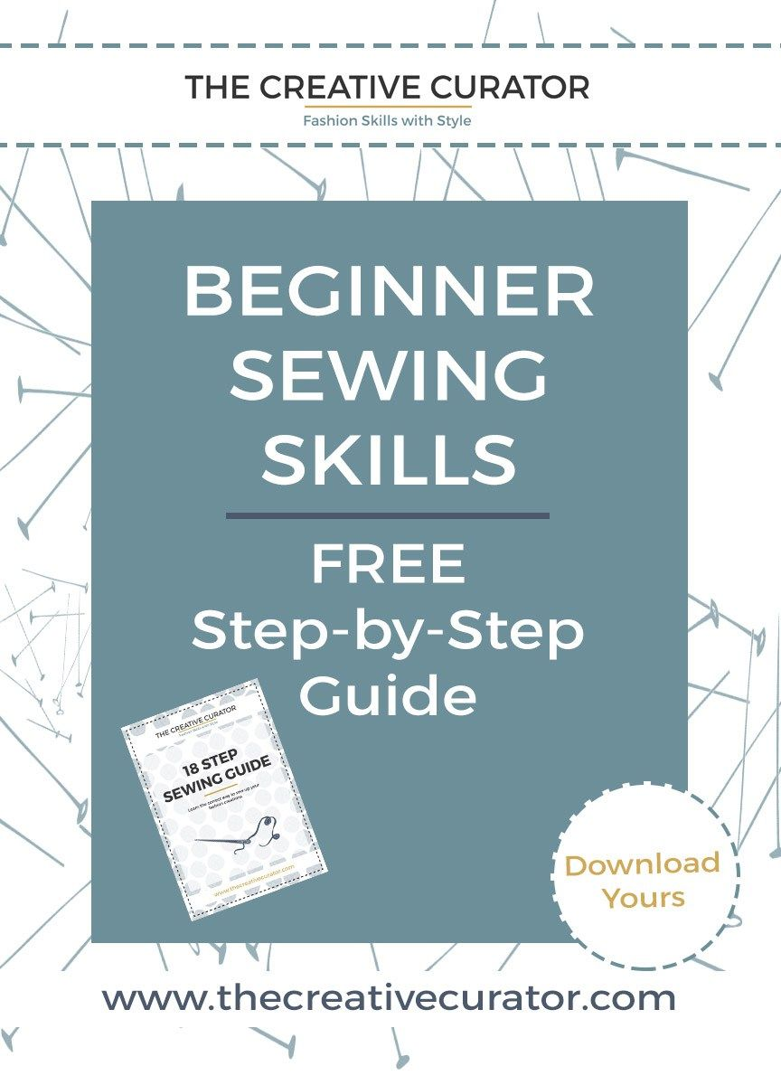 Get your Free Sewing Guide - an essential tool for sewing beginners - a sewing tutorial! The Creative Curator #sewing #patternmaking #sewingpatterns #sewingbeginners #sewingbeginner