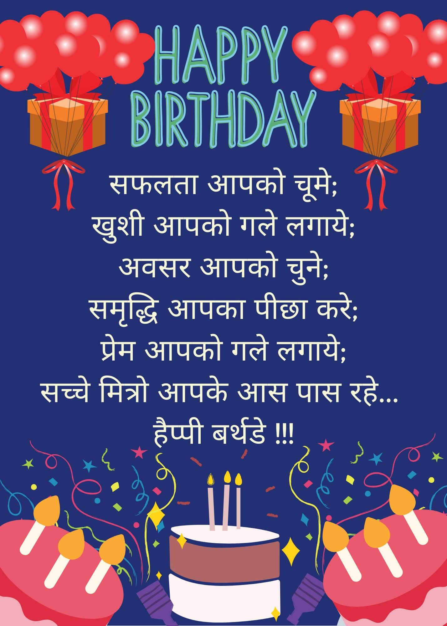 happy birthday wishes in hindi text in 2020 Happy