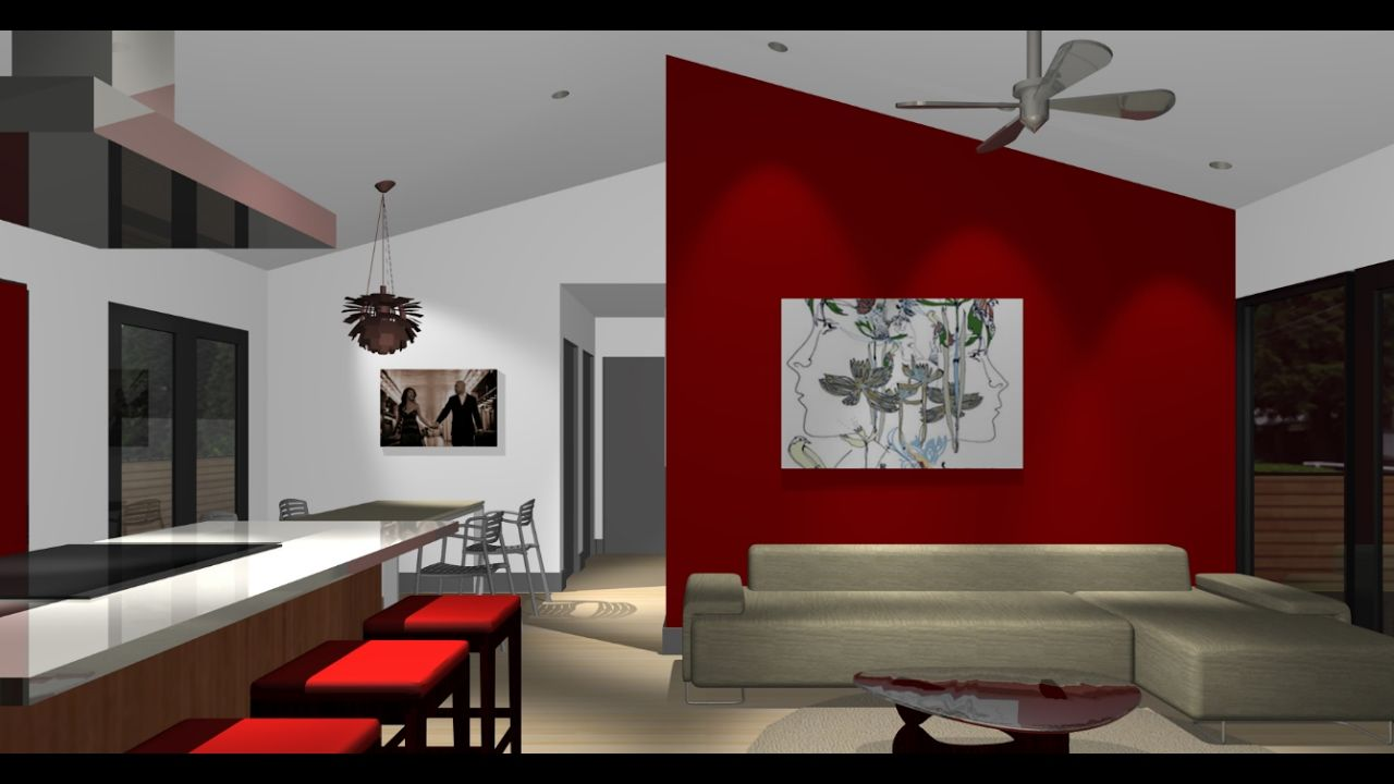 Red Accent Wall Red Accent Wall Living Room Design Living Room