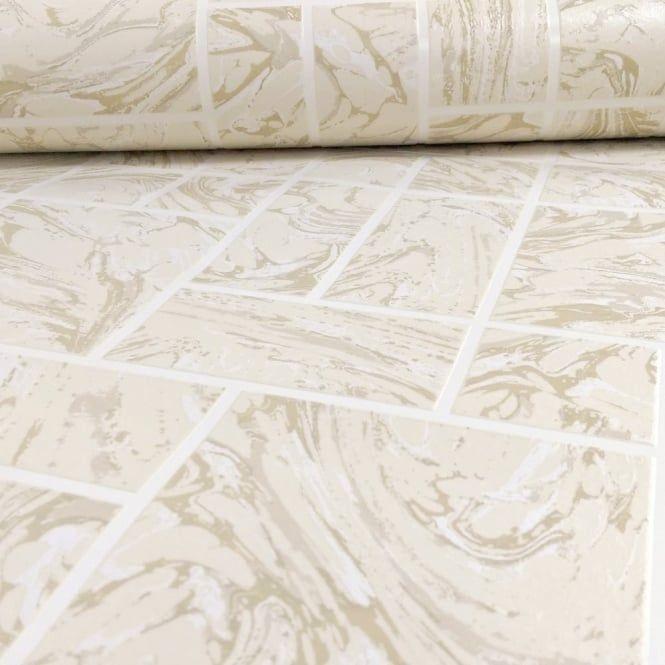 Holden Decor Holden Decor Marble Tile Pattern Faux Effect