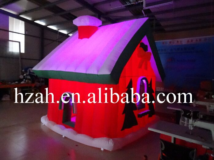 3 3m Inflatable Christmas House With Led Light Christmas House Led Lights Inflatable