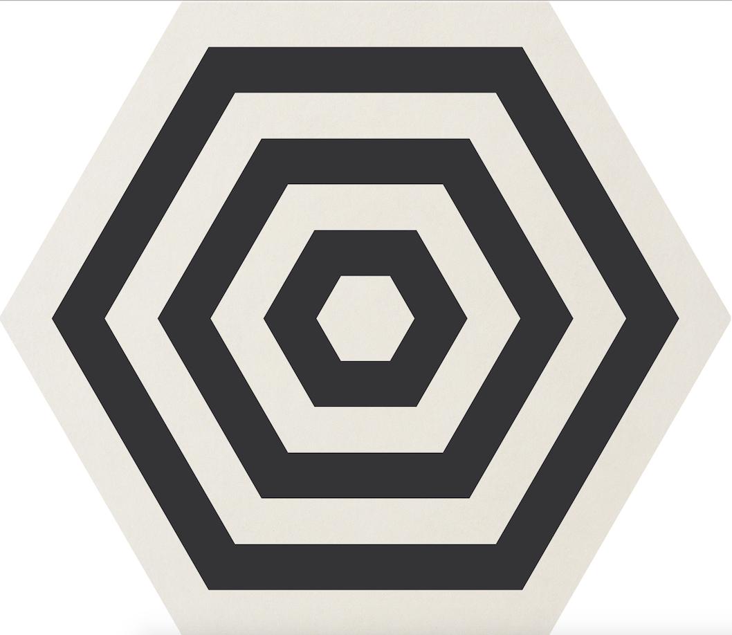 Carrelage Corebasics Ornamenta Gamma Due Noir Et Blanc Motif