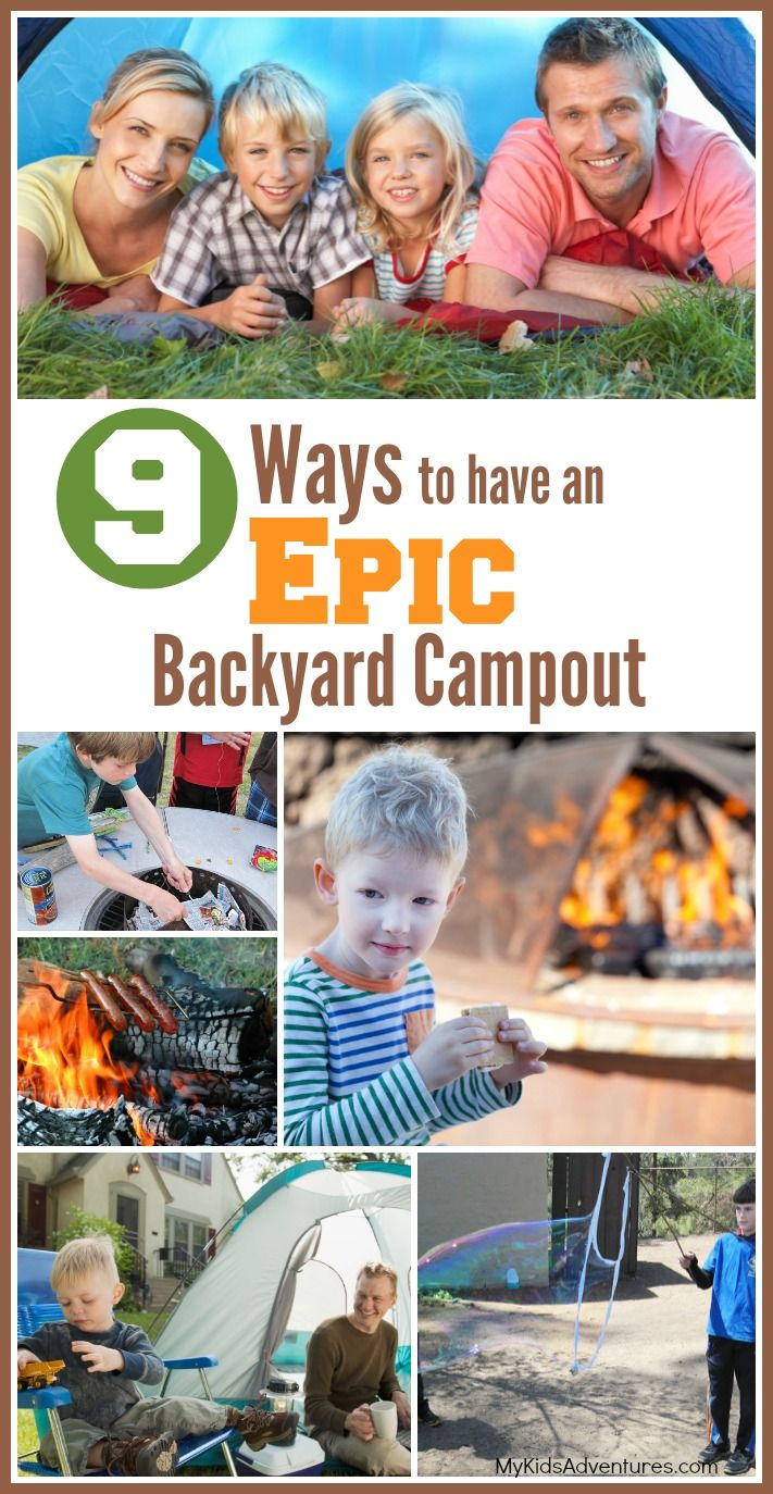 How to Plan a Backyard Campout Adventure With Your Kids | #MyKidsAdventures
