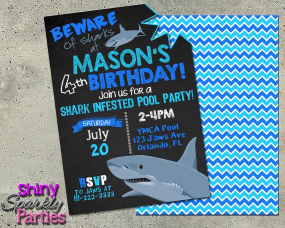 shark birthday invitation printable shark pool party invitation