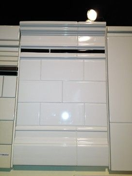 White Subway Tile With Crown Molding And Baseboard Trim From Creative Tile In Sf Baseboard Trim Creative Tile Small Half Baths