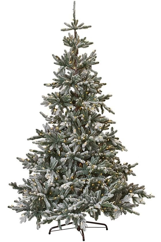 Martha Stewart Living 153 Snowy Norwegian Spruce Pre Lit Artificial Tree Faux Christmas Trees Snowy Christmas Tree Christmas Tree Sale