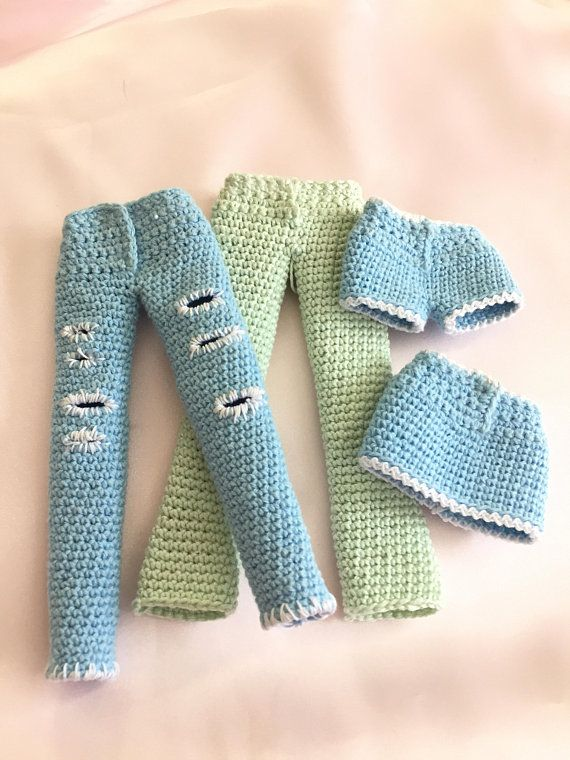 Crochet Pattern for Kate's Jeans - Pants - Shorts - Skirt PDF Download