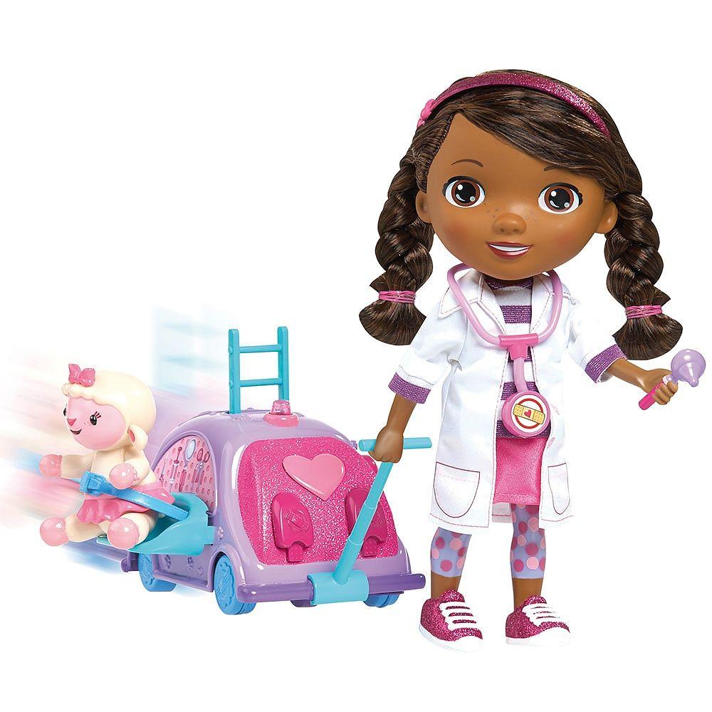 Doctora Juguetes Doc Camina Y Habla Carrito Lambie Doctora Juguetes Munecas Interactivas Doc Mcstuffins