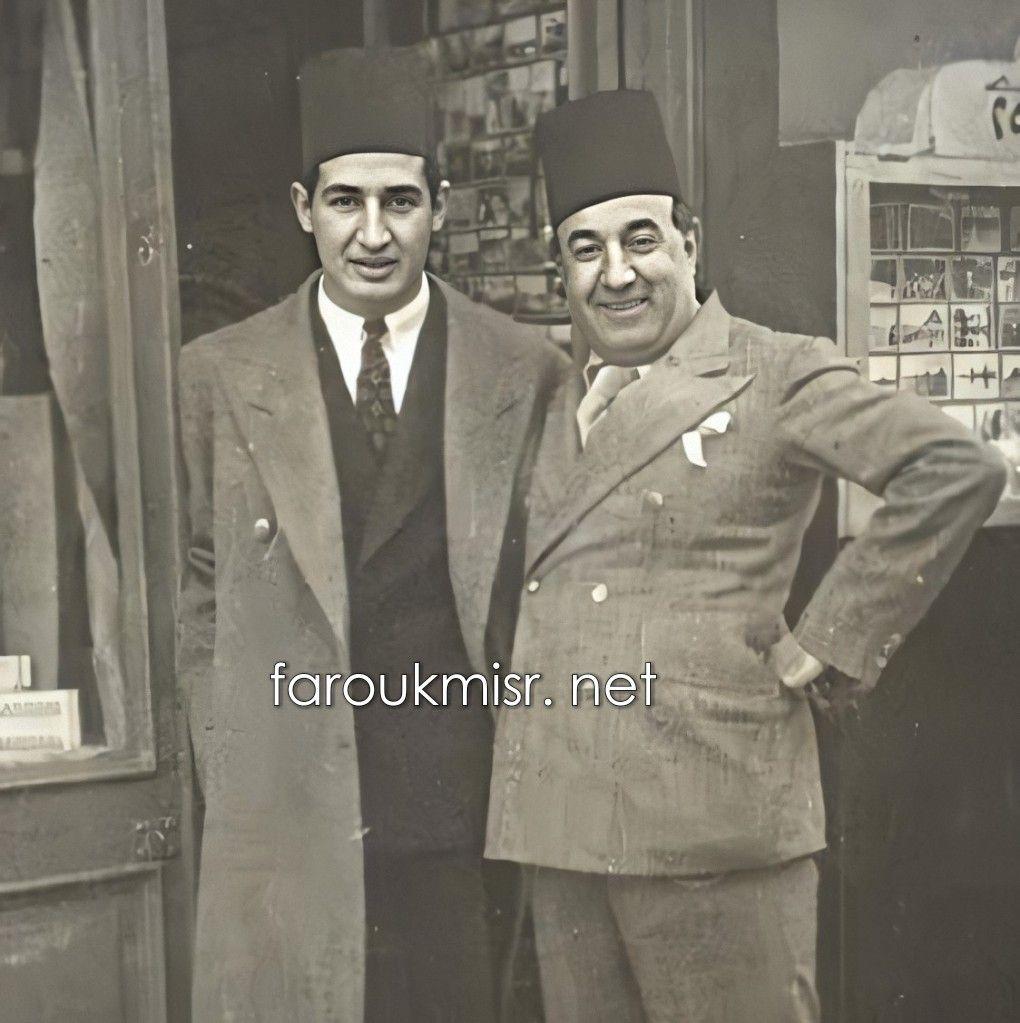 الكاتب والروائي إحسان عبد القدوس مع والده المهندس الفنان محمد عبد القدوس Reem Old Photos Egypt Photo