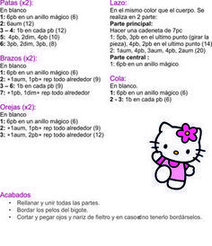 Big Hello Kitty Amigurumi Free Pattern | Padrão de boneca de ... | 274x236