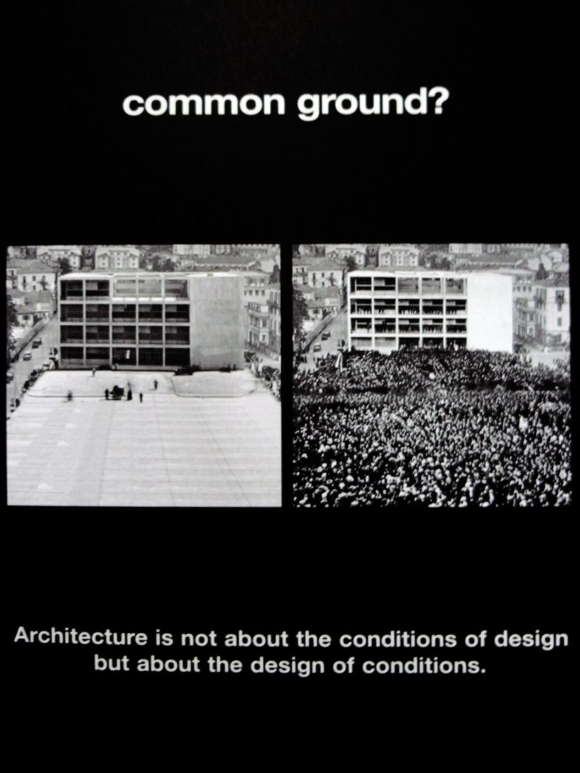"""""""Architecture is not about the conditions of design but about the design of conditions"""" via """"bernard tschumi: ads for architecture 2012 at venice biennale"""""""