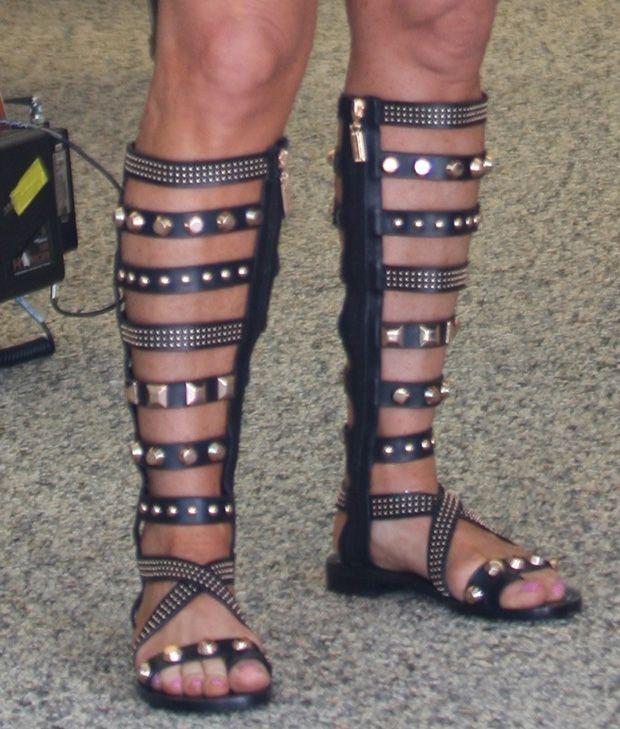 e0070c3a251b Kyle-Richards-Ivy-Kirzhner-Gladiator-Sandals I neeeeed these ...