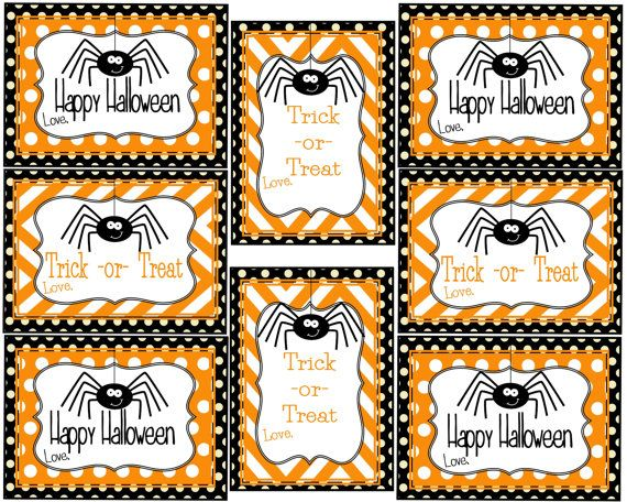 Super Cute Spider Gift tags for Halloween! Spider gifts