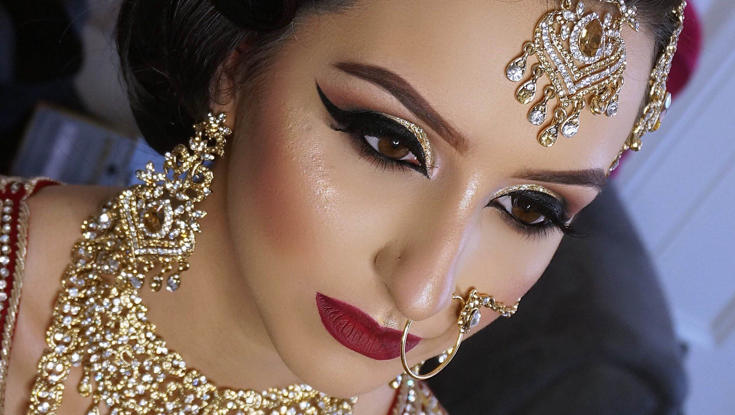 makeup by humera | makeup hindia | asian bridal hair, bridal