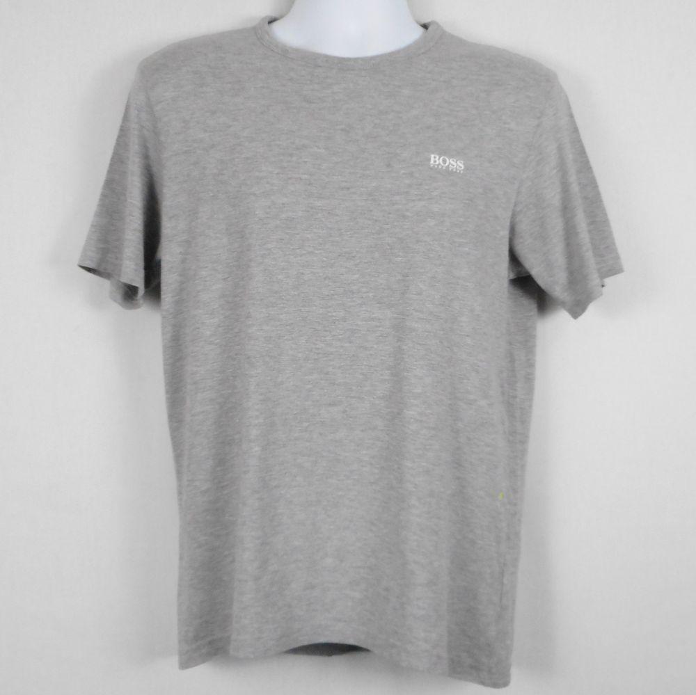 3c737d5a Hugo Boss Mens T Shirt Gray Sz L M Cotton Short Sleeve Modern Fit Green  Label #HUGOBOSS #BasicTee