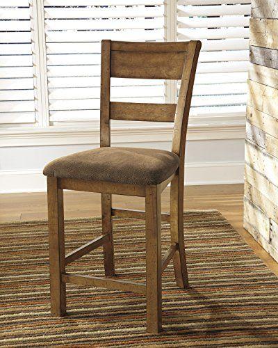 Krindan Light Brown Color Upholstered Barstool (2/CN) For the Home