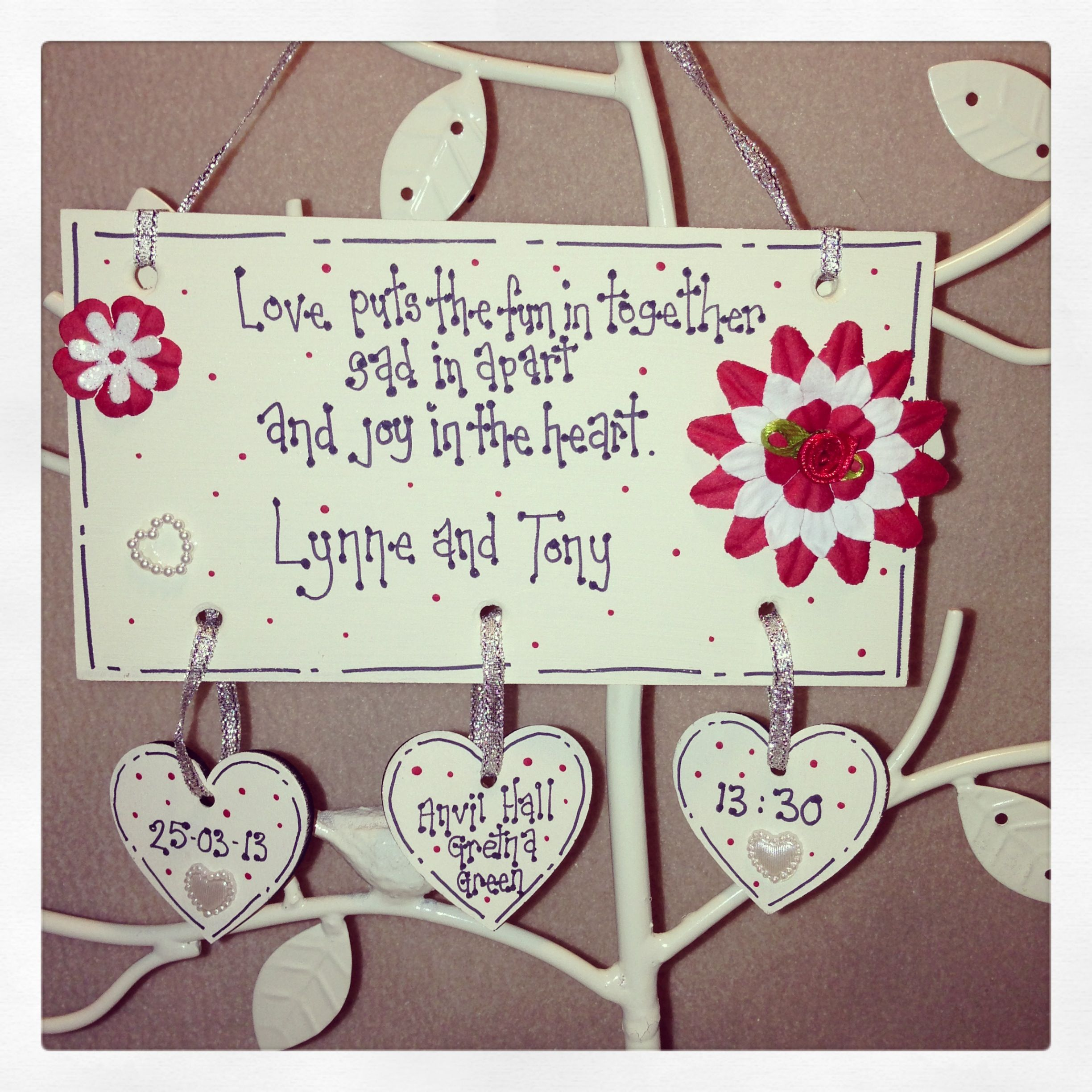 Personalised Wedding Plaques 12 Including Delivery From Www Facebook Mylittlesewandsew