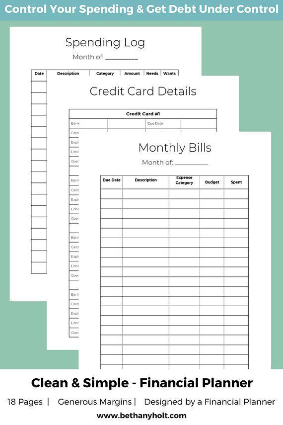 Financial Planner, Budget Planner, Finance Planner, Budget Printable