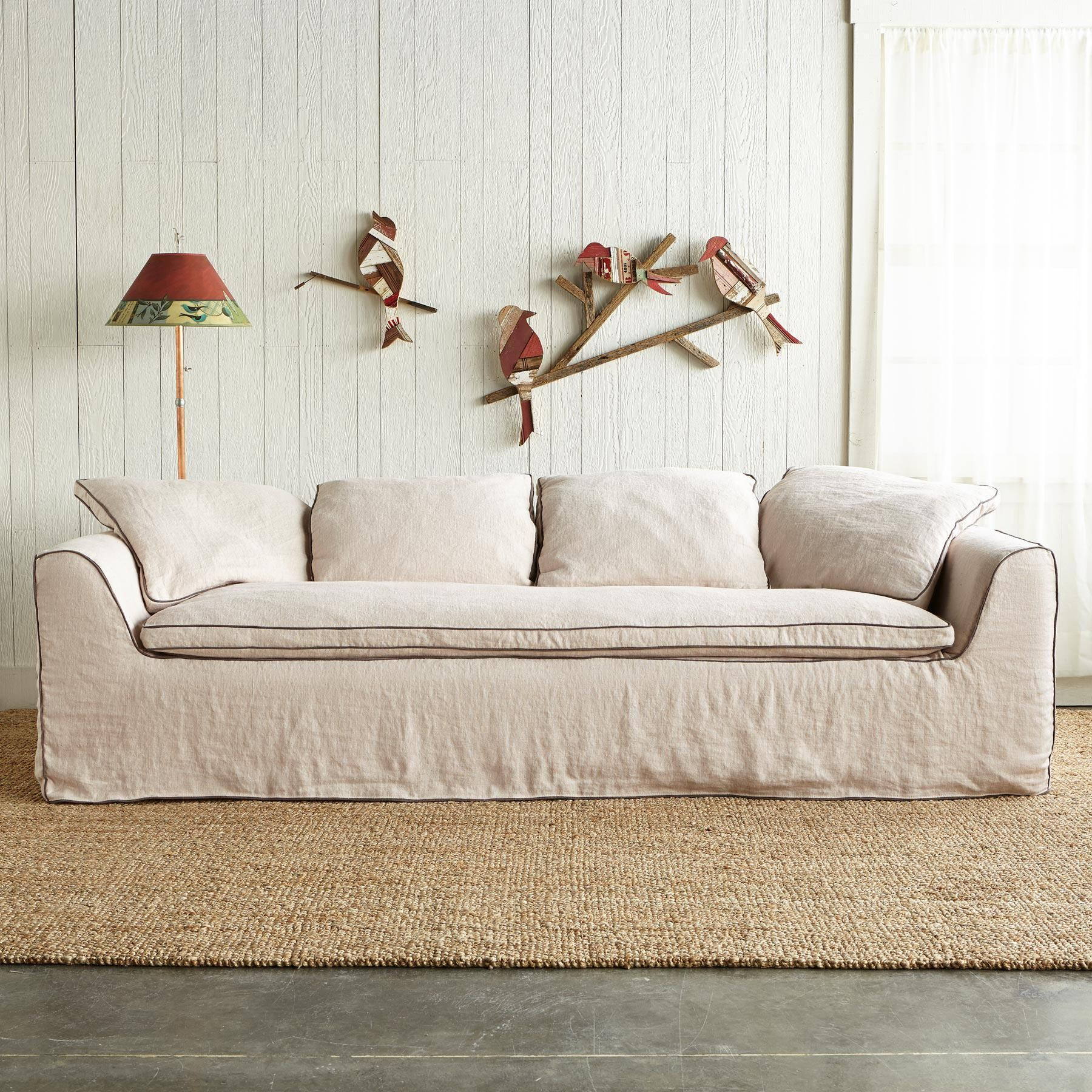 linen slipcover sofas ikea ps sofa bed problems harper slipcovered sink into softness and a