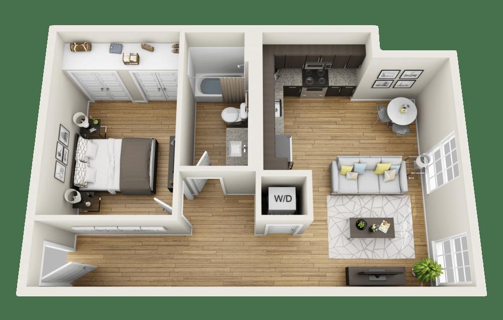 Small Studio Apartment Loft Plan appartement, Plan maison