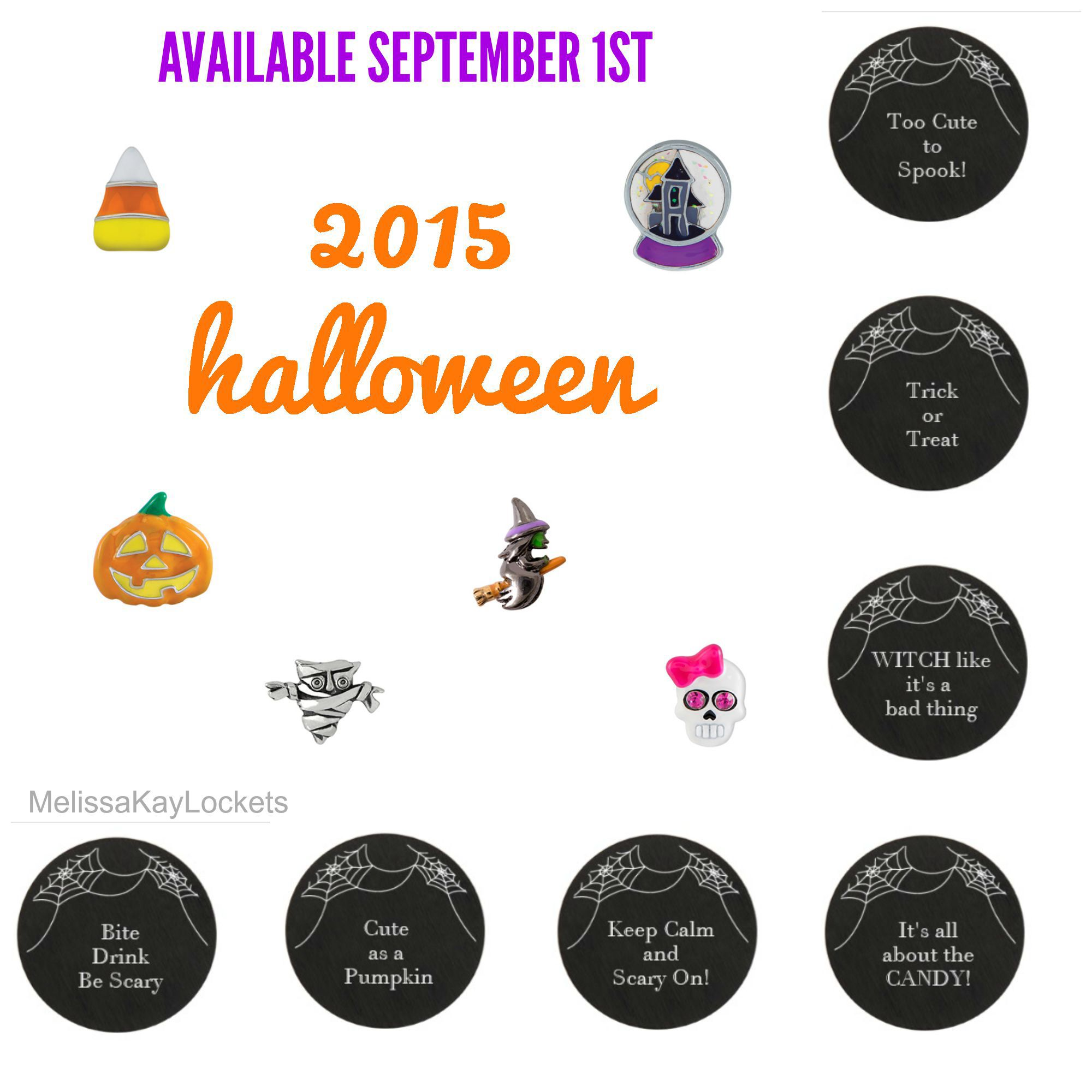 Origami Owl Fall Halloween collection Pumpkin Witch Candy ... - photo#25