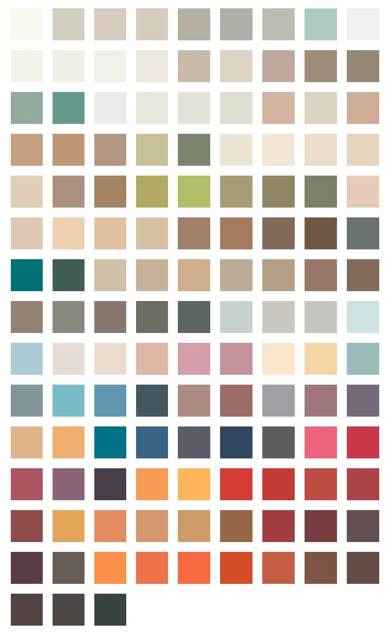 Flamant Interior Color Pallette Peinture Flamant Couleur