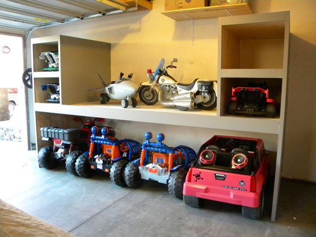 garage storage for power wheels  Google Search  kid