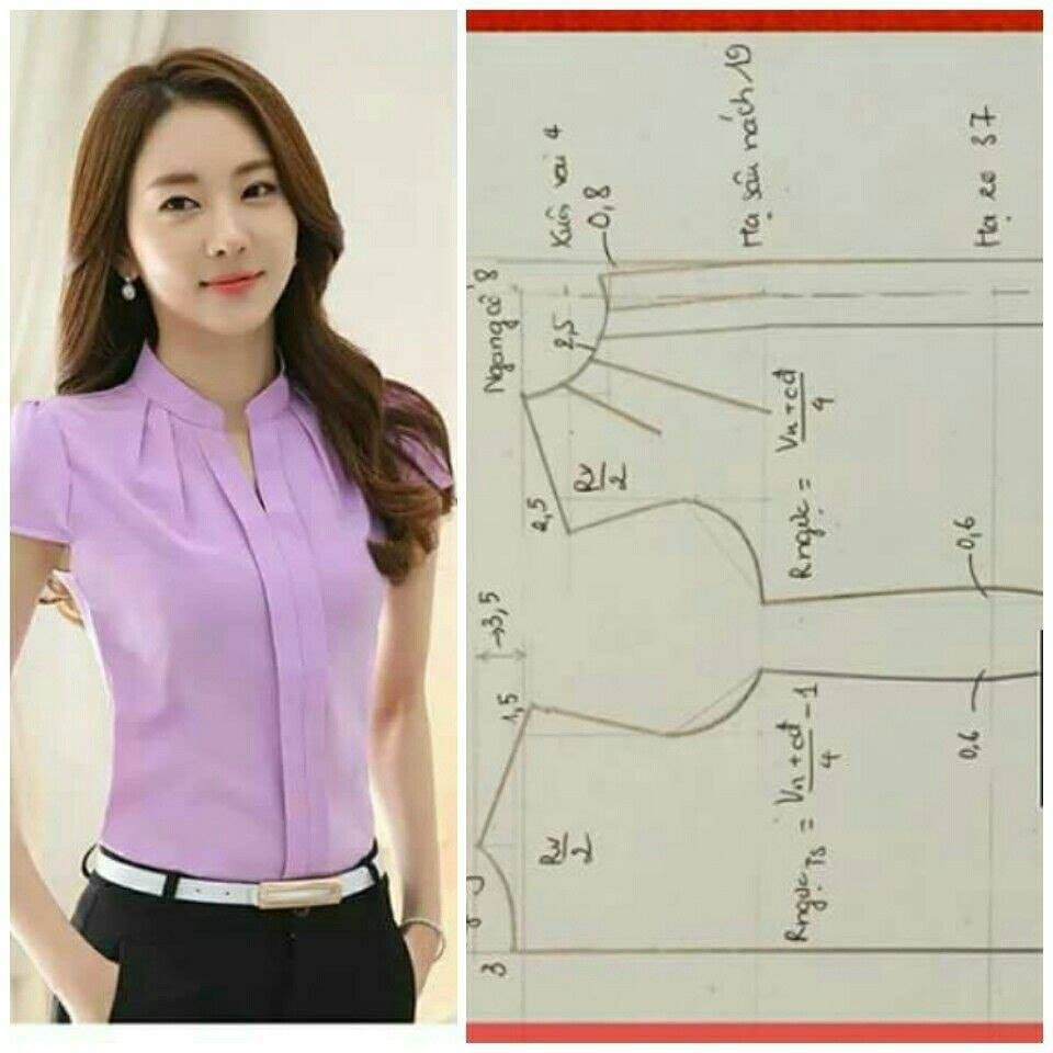 Blusa Clásica Blouse Pattern Sewing Dress Sewing Patterns Clothing Patterns