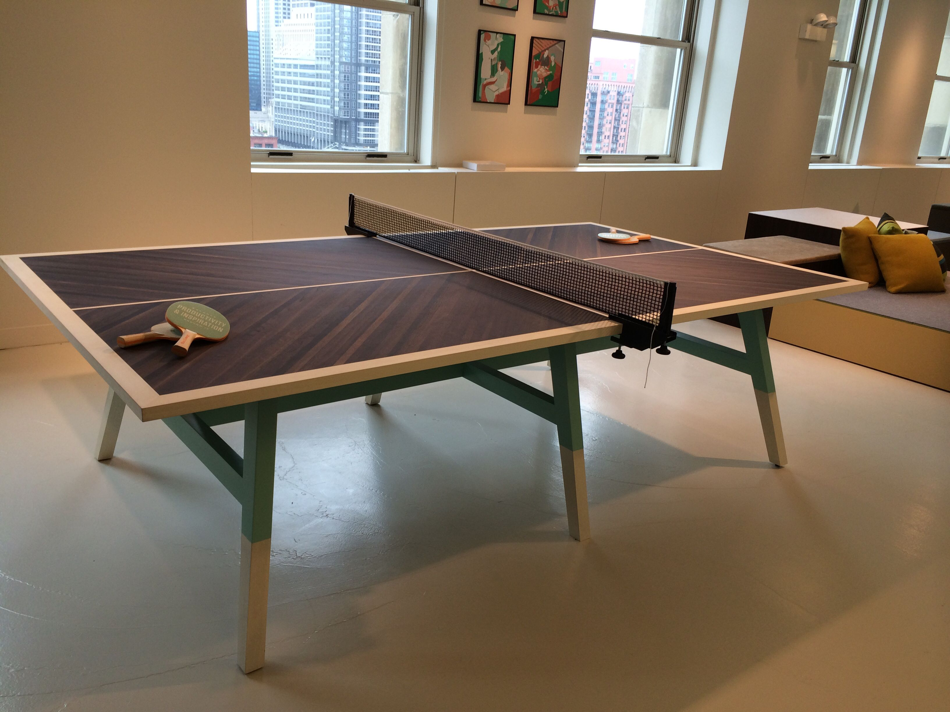Ofs Wooden Herringbone And Mint Ping Pong Table Innovation Room Best Dining Room Ping Pong Table Inspiration