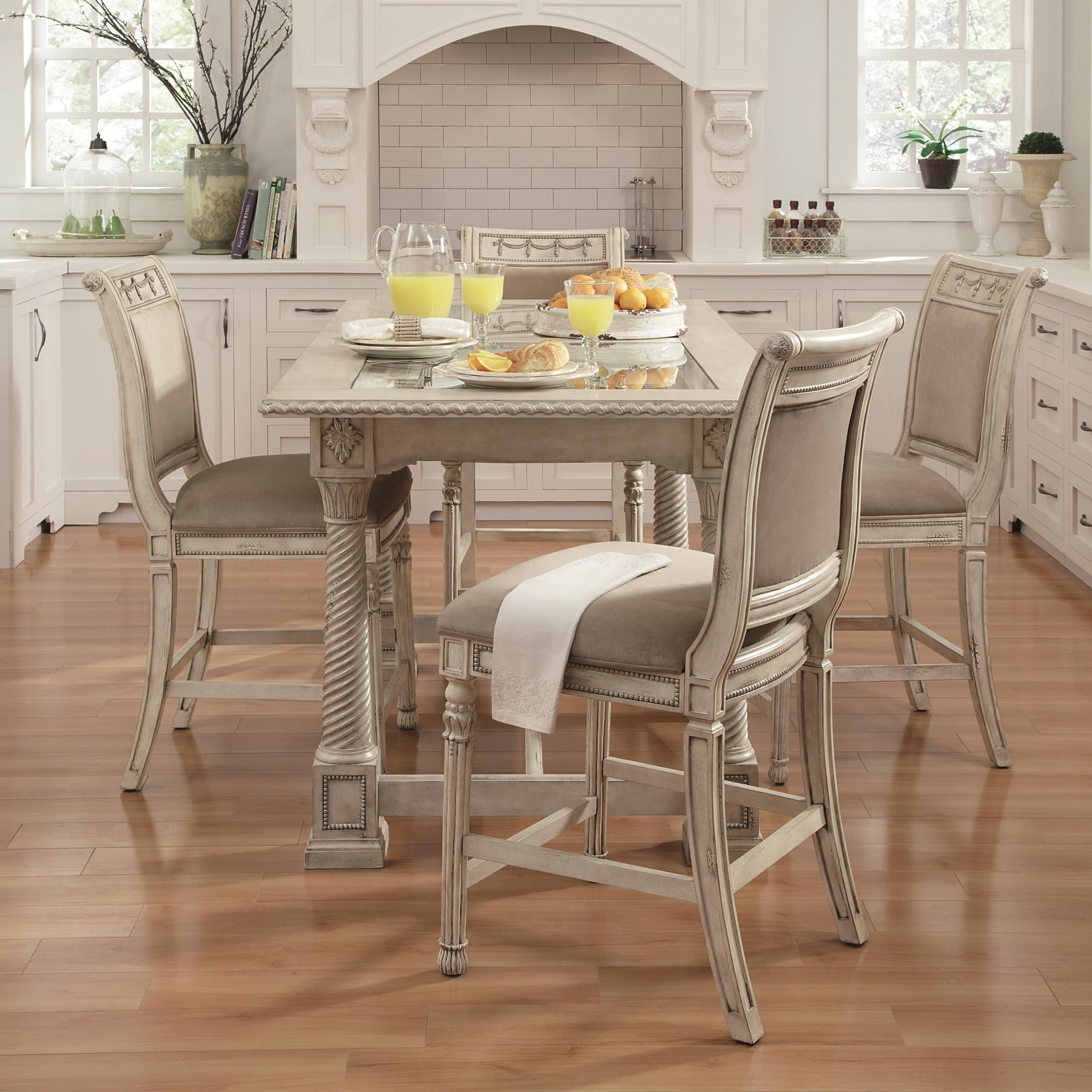 Kitchen Sets Furniture Empire Ii 5 Piece Gathering Table And Chair Set By Schnadig