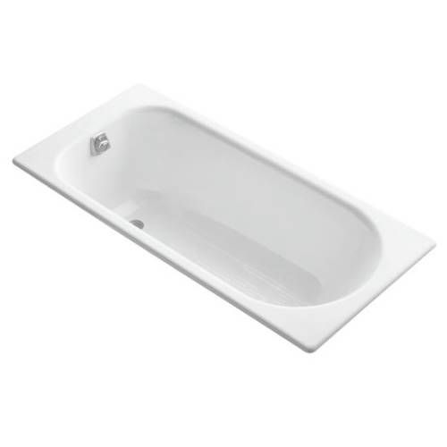 Kohler Mendota 32 In W X 60 In L White Cast Iron Rectangular Right Hand Drain Alcove Bathtub 506 0 In 2020 Soaking Bathtubs Bathtub Mendota