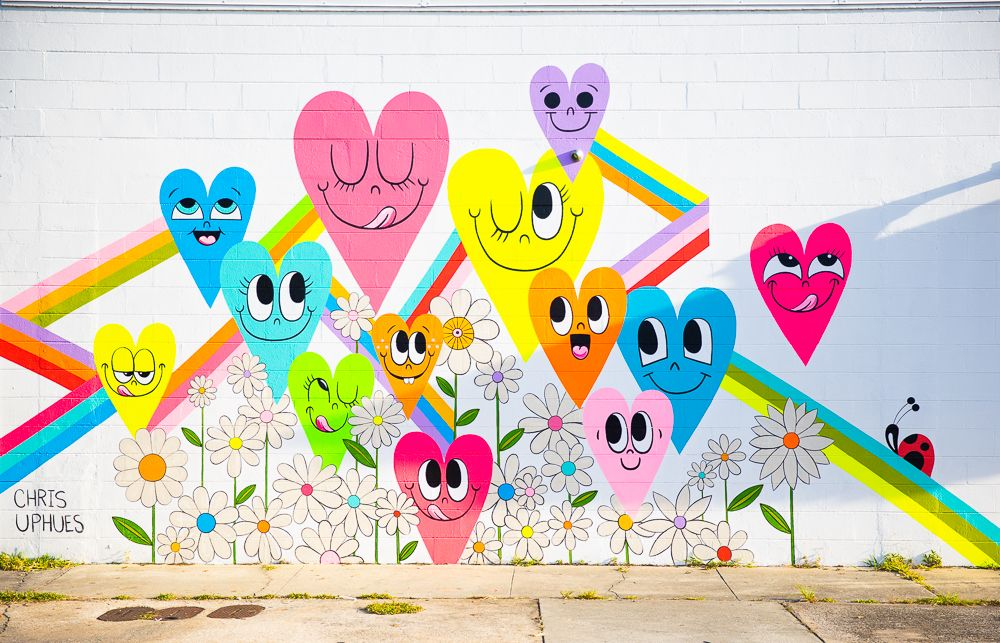 Muralist Chris Uphues and DayGlo Color Corp. team up to
