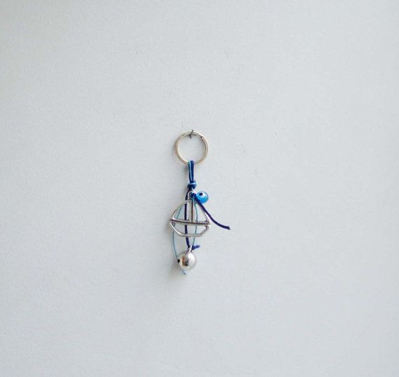 Sailboat and bell keyring metal sailboat and by ArktosCollectibles, $19.50