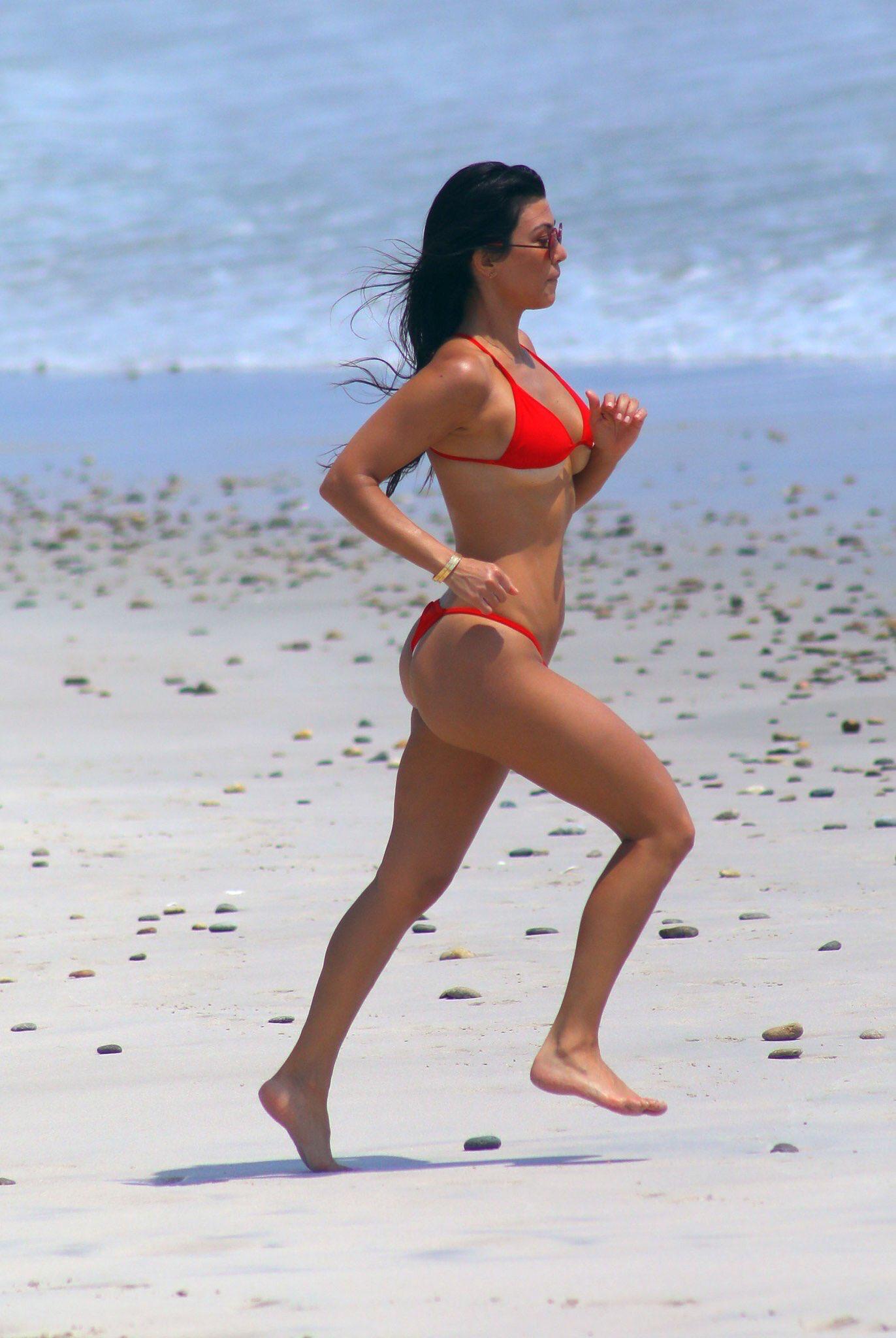 Kim perez glutes red bikini 9