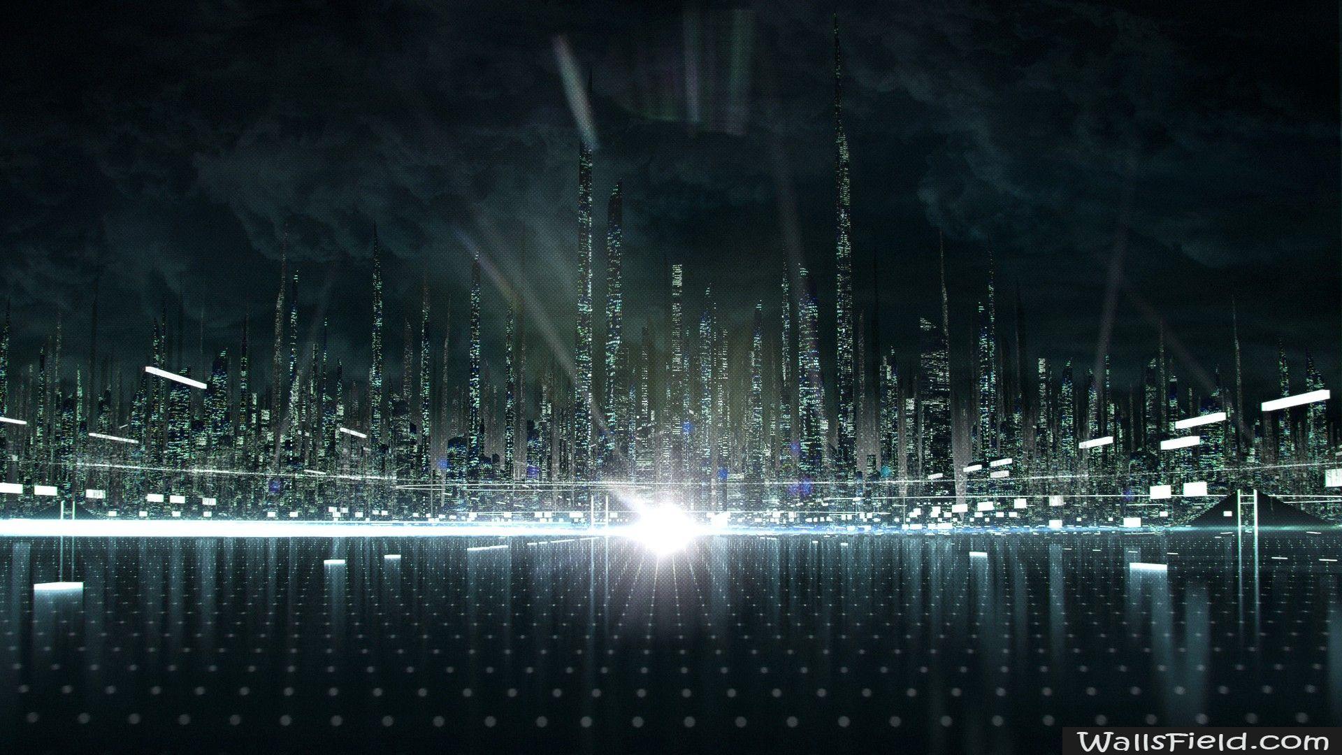 Tron City Hd Desktop Wallpaper High Definition Fullscreen Mobile Tron Legacy Tron Futuristic City