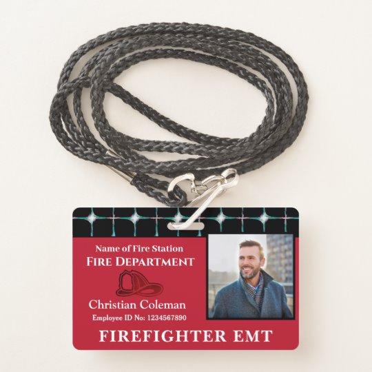 Custom Employee Name Id Card Logo Bar Code Photo Badge Zazzle Com Employee Id Card Id Card Template Custom Badges