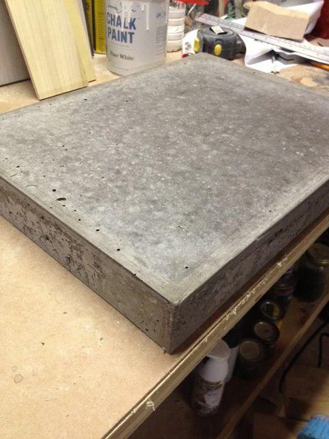 Concrete Countertop Test Run Concrete Countertop Mix Concrete