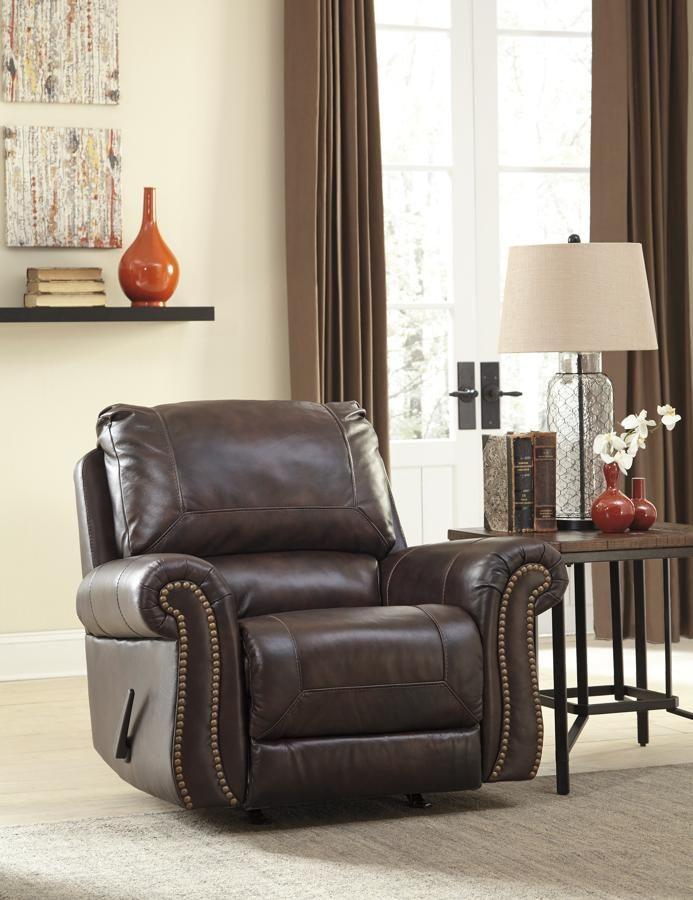 Saddle Rocker Recliner, Red Shed Furniture Goldsboro
