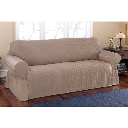 Mainstays Sherwood Slipcover Sofa In 2019 Patio