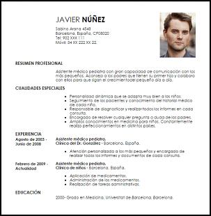 Modelo Curriculum Vitae Asistente Medico Pediatra Lk Pinterest